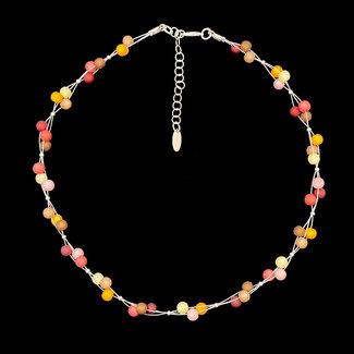 PMA Necklace Mini Cluster Saffron