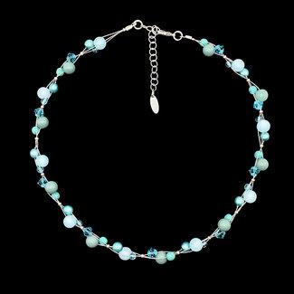 PMA Necklace Mini Cluster Light Blue