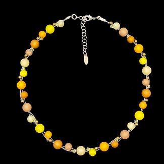 PMA Necklace Twist Small Saffron