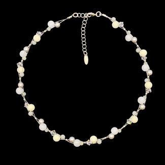 PMA Necklace Mini Cluster White