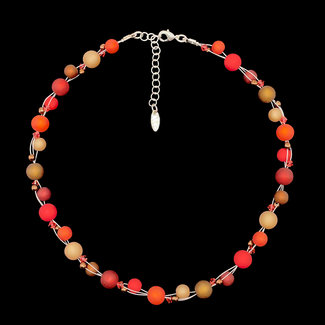 PMA Necklace Twist Small Winter Reds/Brown