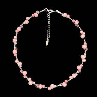 PMA Necklace Mini Cluster Rose