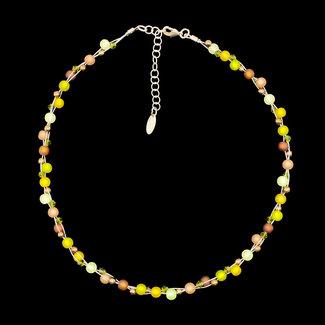 PMA Necklace Faye Mini Twist Winter Olive