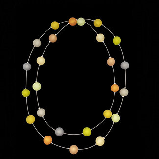 PMA Necklace Medium Long Mustard