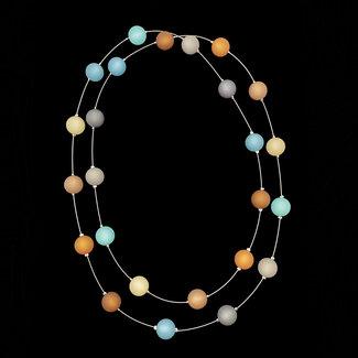 PMA Necklace Medium Long Aqua