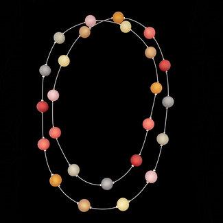 PMA Necklace Medium Long Scarlet