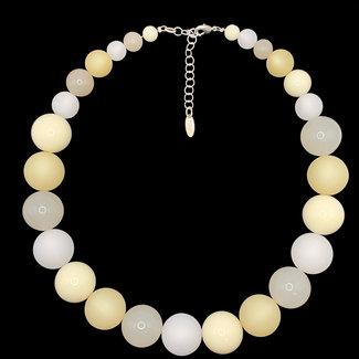 PMA Necklace Large Shiny & Matte Beige