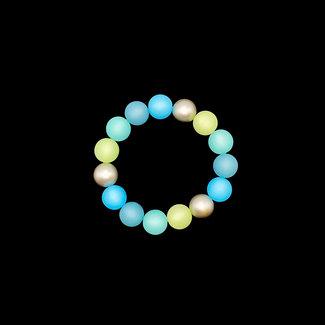 PMA Bracelet Multi Medium With Metallic Aqua