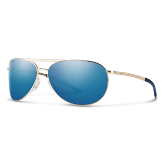 Smith Optics Smith Serpico Slim 2 Gold with ChromaPop Polarized Blue Mirror Lenses