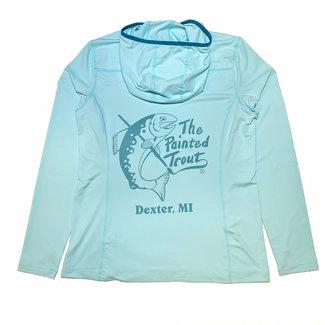 Orvis Orvis Women's Sun Defense Painted Trout Logo Long-Sleeved Hoodie