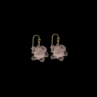 Michael Michaud Design Michael Michaud Blushing Rose Earrings - Wire Drop