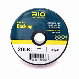 RIO RIO Fly Line Backing, Dacron - 20lb, 100yds, Pink