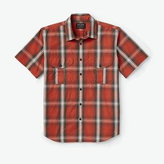Filson Filson Men's Washed Short Sleeve Feather Cloth Shirt