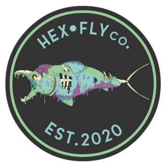 Hex Fly Co. Hex Fly Co. Zombie Salmon Sticker