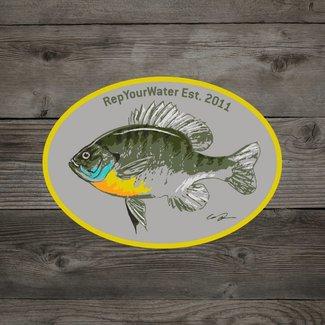 RepYourWater RepYourWater Artist's Reserve Bluegill Sticker
