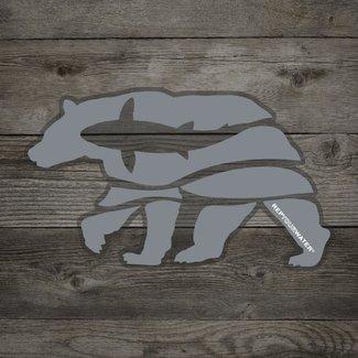 RepYourWater RepYourWater Trout Bear Sticker