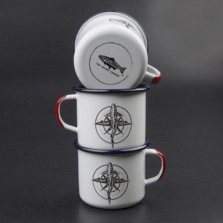RepYourWater RepYourWater Enamel Camp Mug - Brown Trout Compass