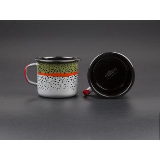 RepYourWater RepYourWater Enamel Camp Mug - Rainbow Trout Skin
