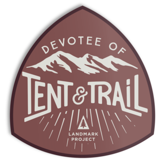 The Landmark Project The Landmark Project Devotee of Tent and Trail Sticker