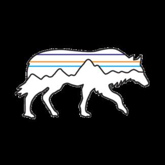 Patagonia Patagonia Back for Good Wolf Sticker