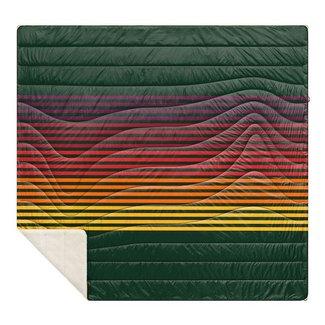 Rumpl Rumpl Sherpa Puffy Blanket - Forest Rays