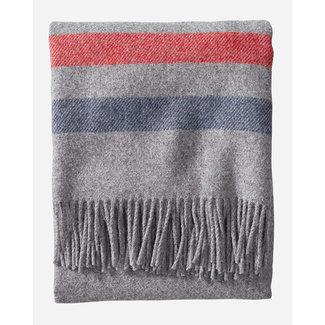 Pendleton Pendleton Eco-Wise Easy Care Wool Fringed Throw - Grey Stripe