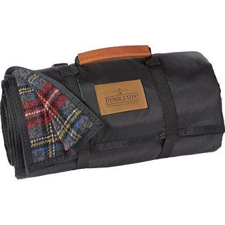Pendleton Pendleton Nylon Backed Roll-Up Blanket - Charcoal Stewart Tartan
