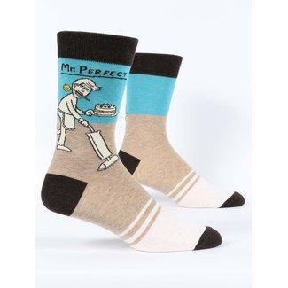 Blue Q Blue Q Men's Crew Socks - Mr. Perfect