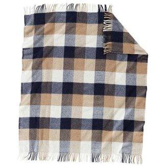 Pendleton Pendleton Eco-Wise Easy Care Wool Fringed Throw - Navy/Camel