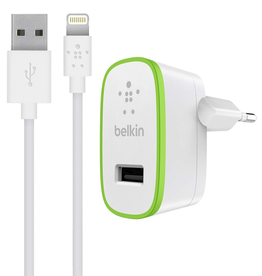 Belkin BOOST↑UP™ Home Charger with Lightning to USB ChargeSync Cable (12 watt/2.4 Amp)