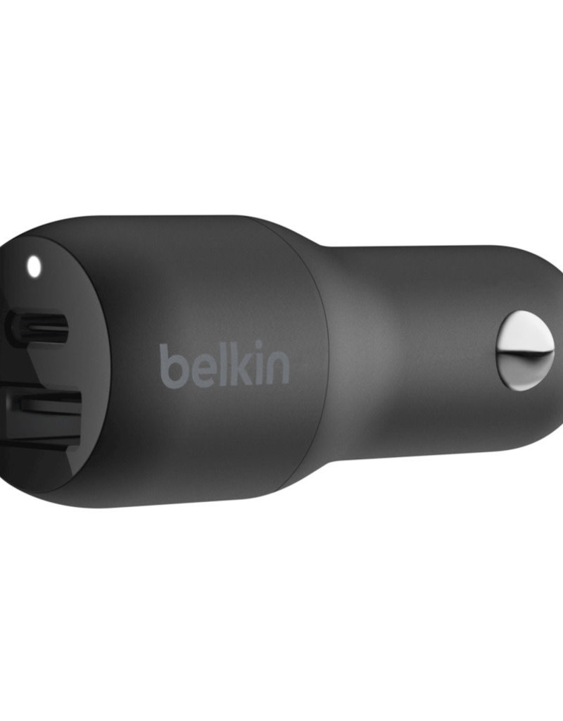 Belkin BOOST↑CHARGE™ USB-C + USB-A Car Charger 30W