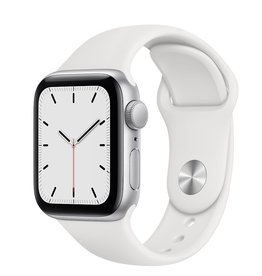 Apple Apple Watch SE 40mm Silver Aluminium White Sport Band