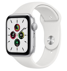 Apple Apple Watch SE 44mm Silver Aluminium White Sport Band