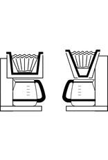 FILTRE À CAFÉ OVALE RÉUTILISABLE (6 à 12 tasses)