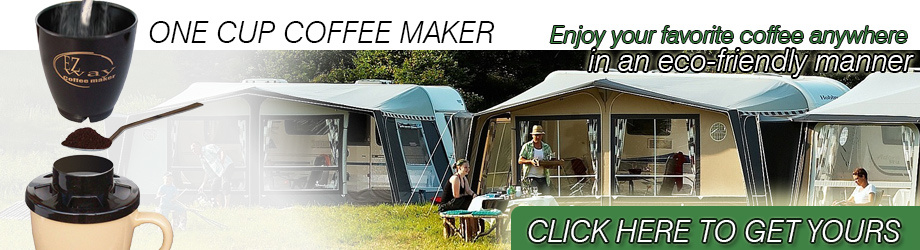 One cup ecological coffee maker