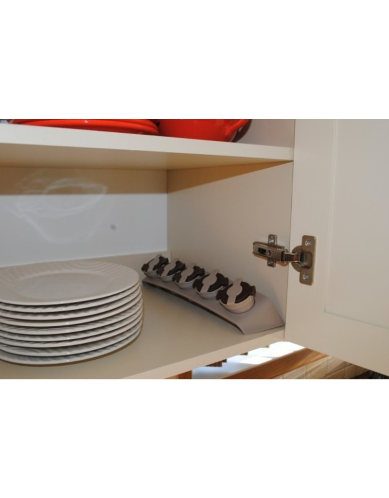 RACK, CONTAINERS  AND POD FILTERS SET (5)
