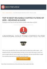 FILTRE À CAFÉ OVALE RÉUTILISABLE (1 À 5 TASSES)