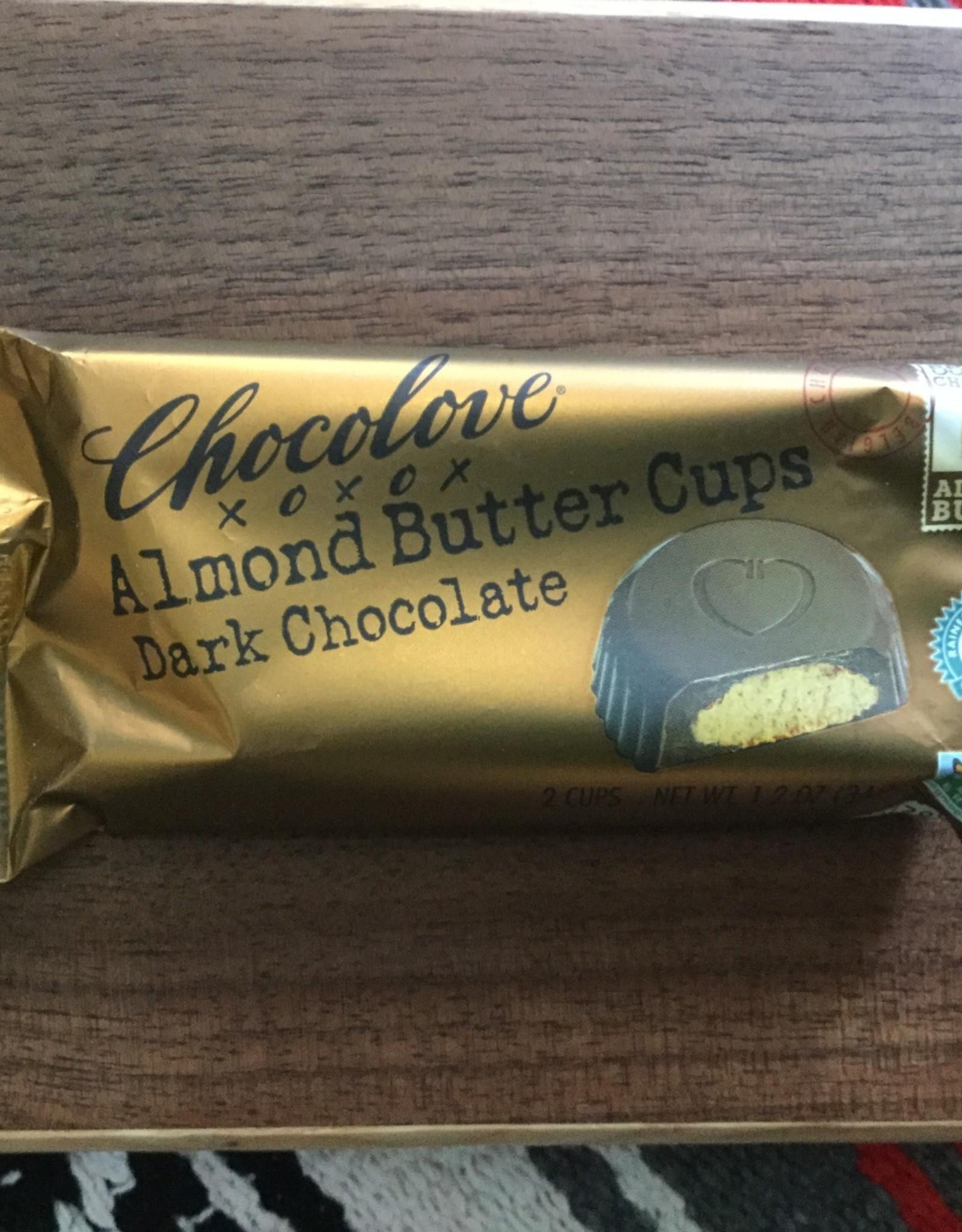 Chocolove Almond Butter Dark Chocolate Cups
