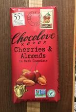Chocolove Cherries & Almonds Dark Chocolate Bar