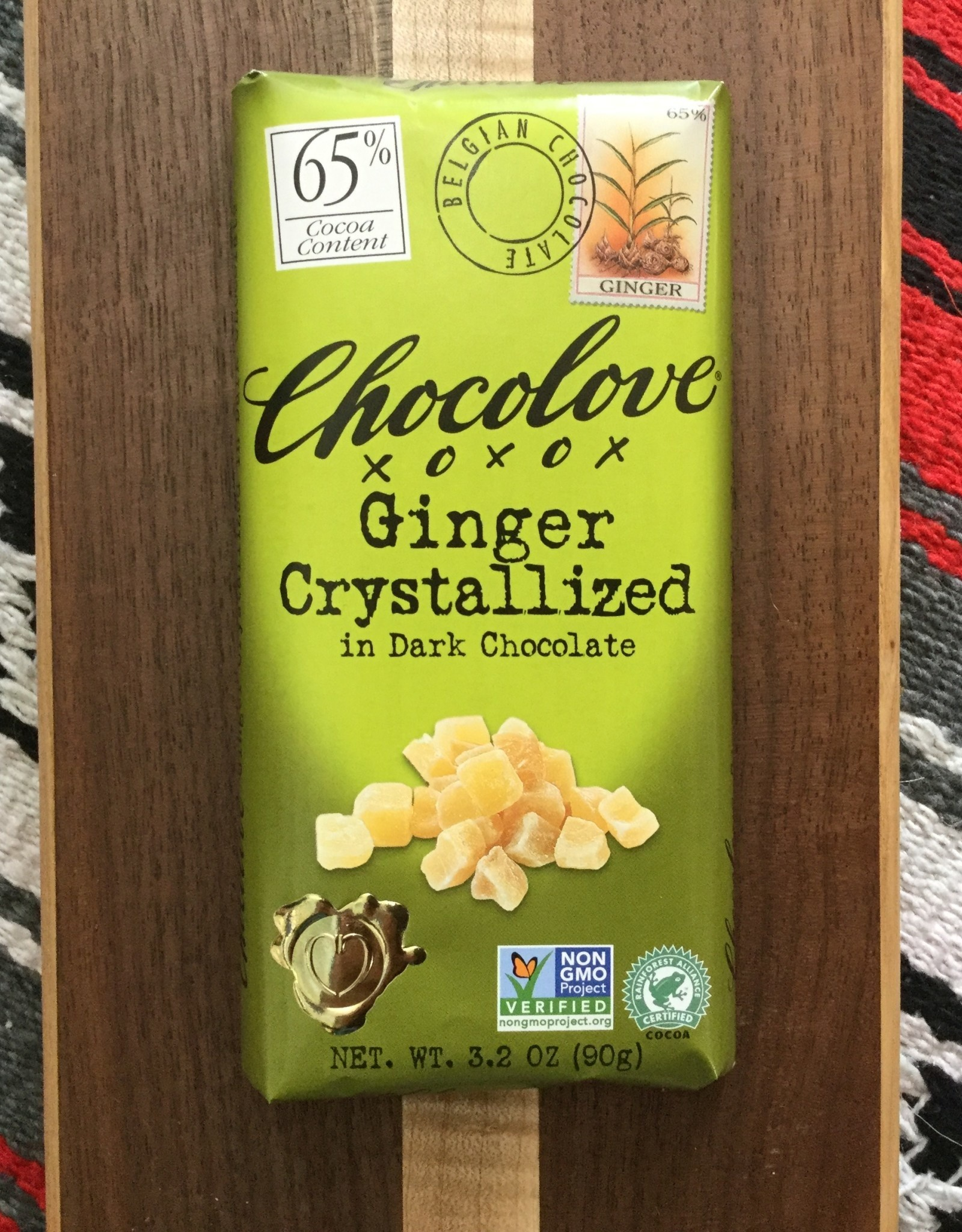 Chocolove Ginger Dark Chocolate Bar 3.2 oz