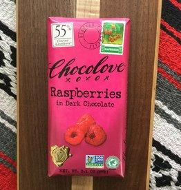 Chocolove Raspberries in Dark Chocolate Bar