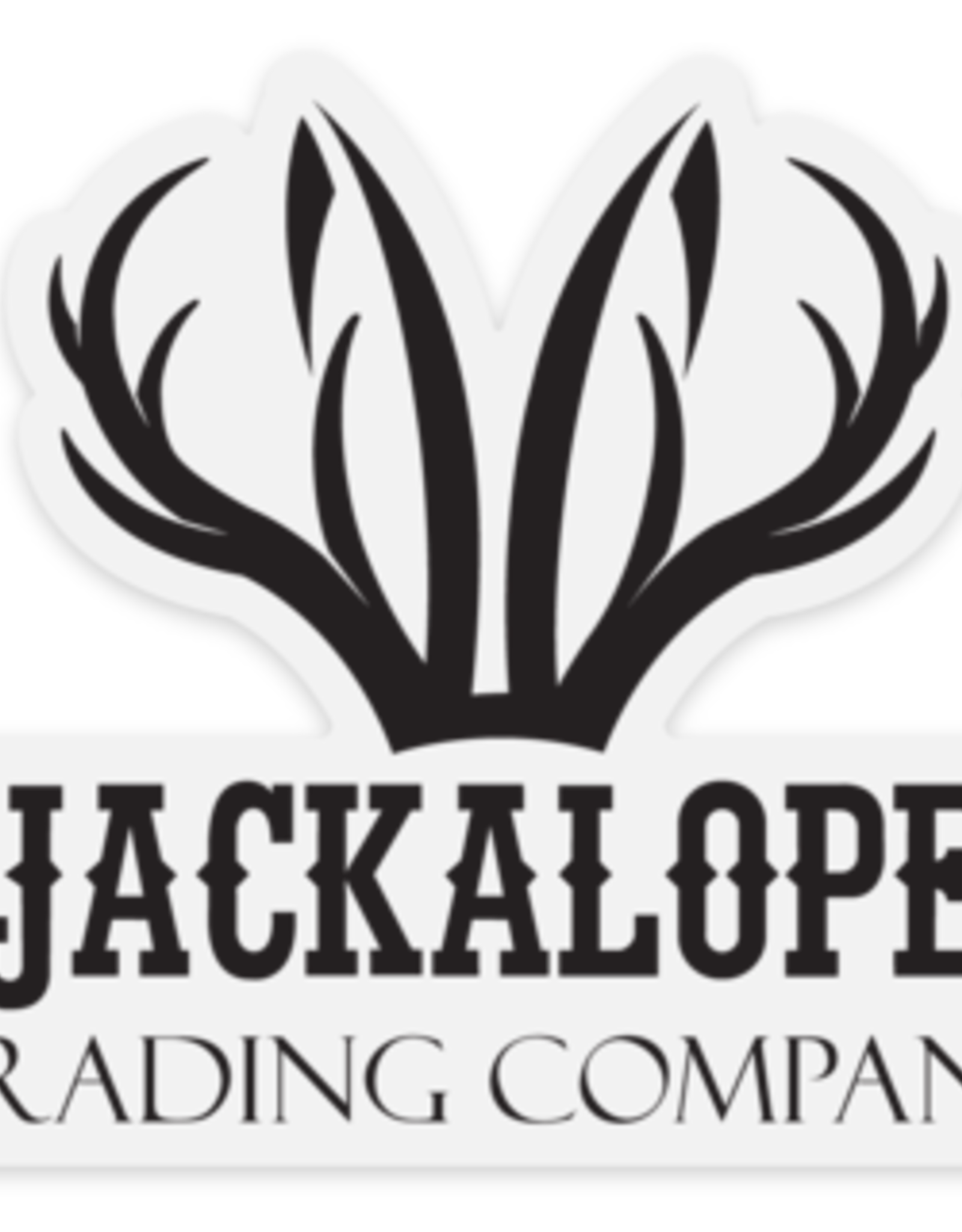 Clear Jackalope Logo Stickers