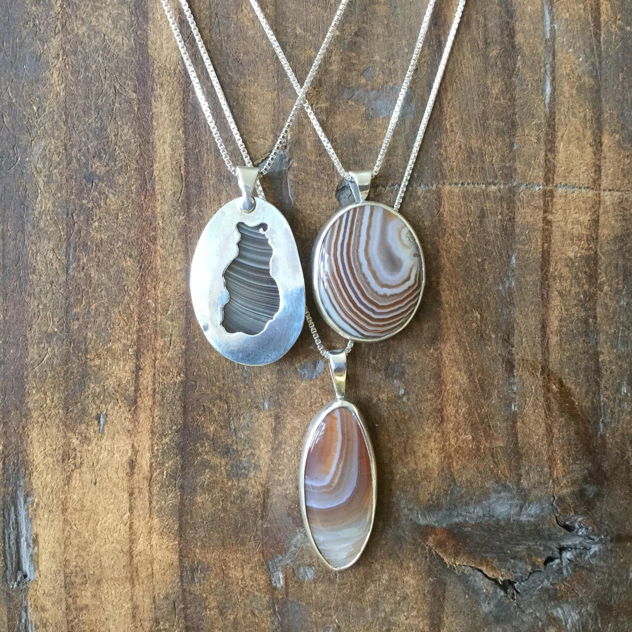 Lake Superior Agate Necklaces