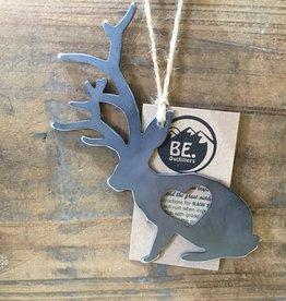 Jackalope Heart Ornament
