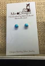 Min*Designs Earrings, Plain Bezel Post