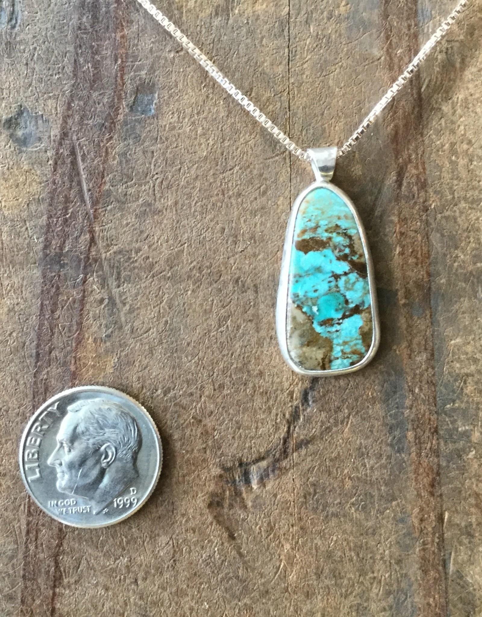 Min*Designs Turquoise Teardrop Bezel Necklace