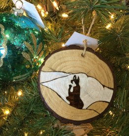 Ginnie Brooks Wood Burned Ornament, Artisan