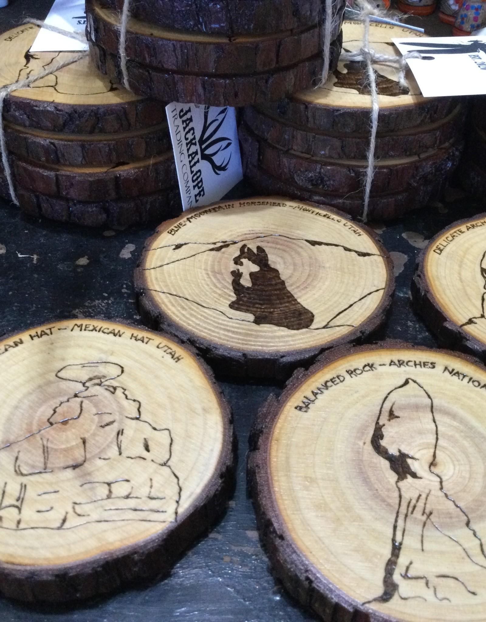 Ginnie Brooks Coaster Set/4,  Wood