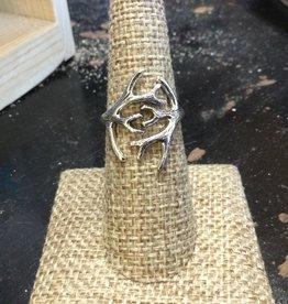 Sterling Antlers Ring