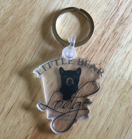 Sticker Mule Little Bear Lodge Keychain